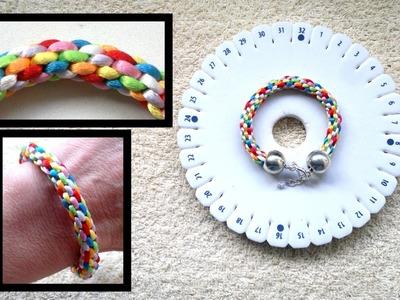 Beading4perfectionists : Kumihimo bracelet : basic braid beginners tutorial
