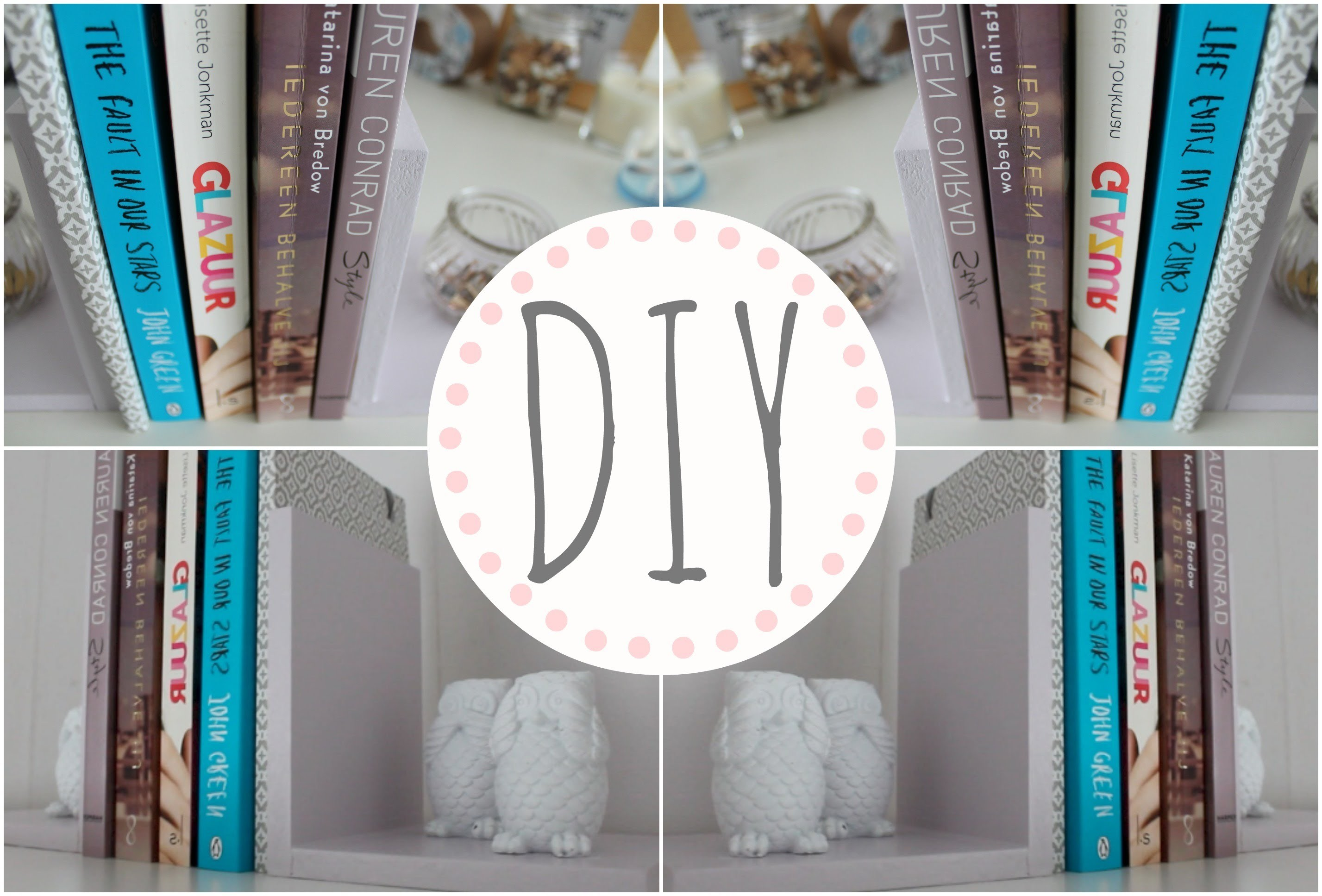 Diy leuke boekensteunen kamer decoratie my crafts and diy projects - Decoratie kamer ...