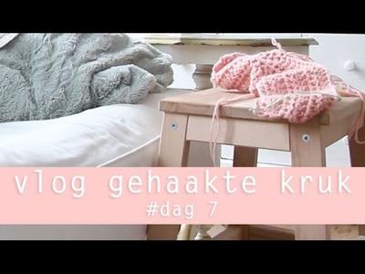 VLOG ikea kruk haken 100 days of yarn bombing day 7