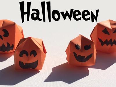 Halloween pompoenen vouwen - FUN: origami Halloween pumpkins crafts