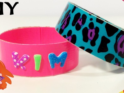 DIY crafts: BRACELETS Duck tape armbandjes knutselen - recycling