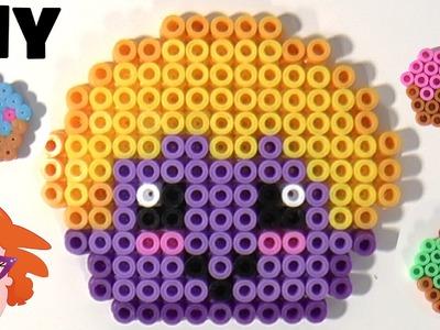 Numnom cupcake Strijkkralen DIY - HAMA perler beads