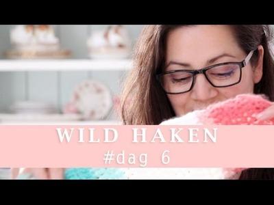 Wild leren haken yarn bombing uitdaging day 6