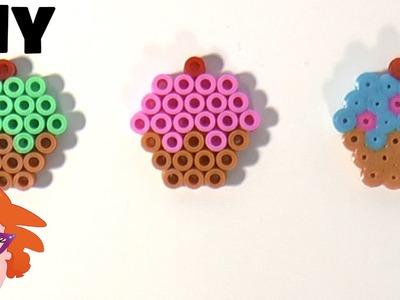 Strijkkralen mini cupcakejes DIY - HAMA perler beads