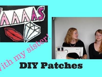 DIY patches with my sister! |Pastels And Stripes