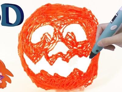 Halloween pumpkin crafts - 3D printer pen pompoen
