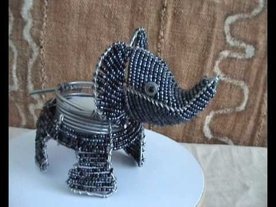 CraftRootz - Elephant T-light candle holder