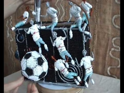 Craftrootz - Glass beaded Soccer radio
