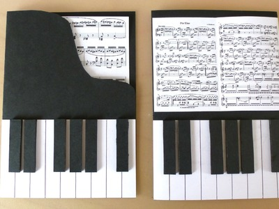 DIY Piano Cards
