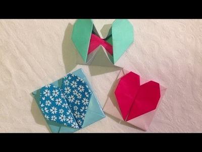 Fun: Origami hartjesdoosje.envelopje vouwen