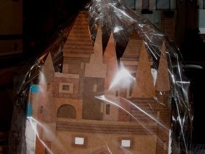 Luiertaart kasteel zelf maken tutorial DIY