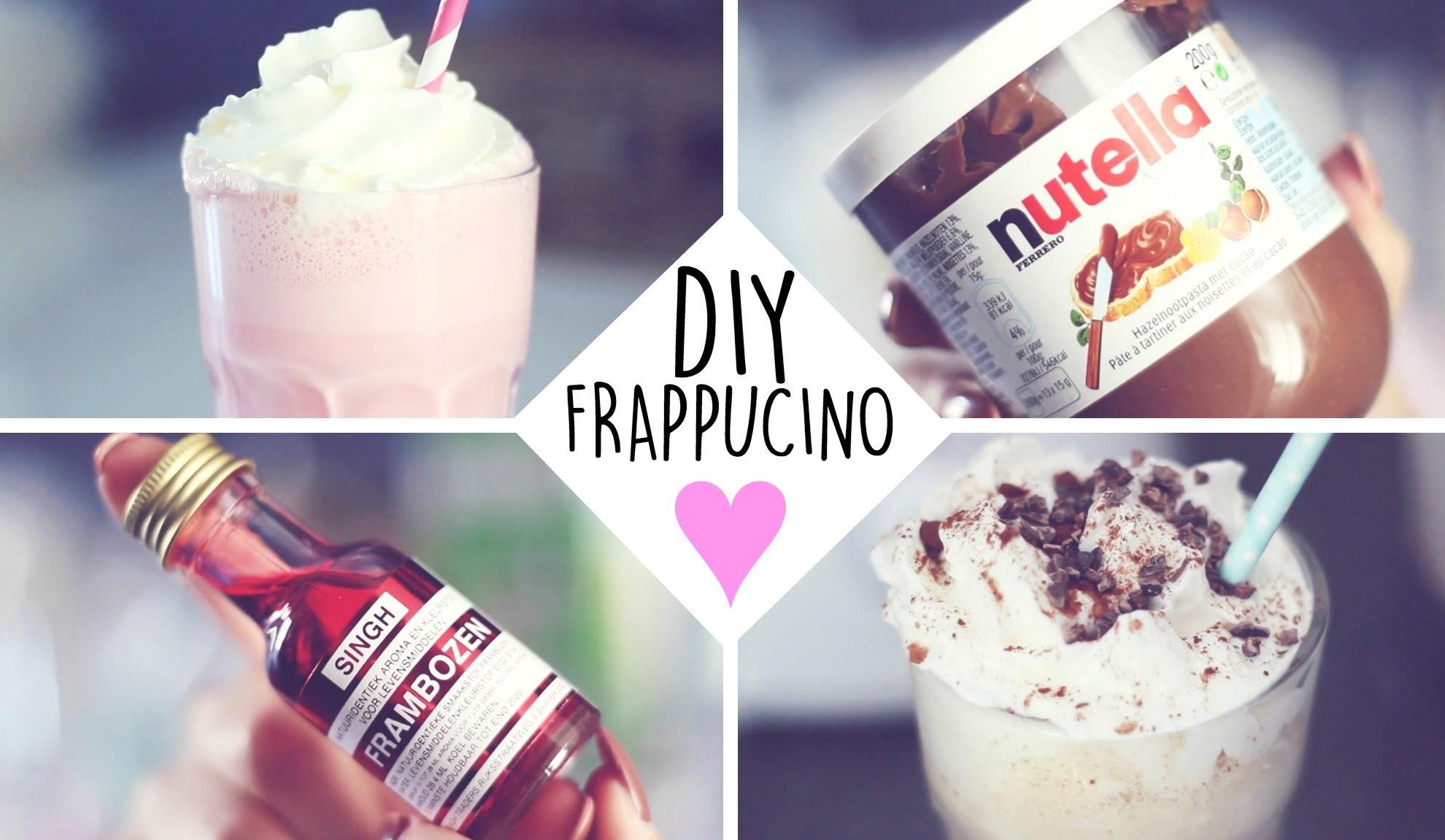 DIY: COTTON CANDY & NUTELLA FRAPPUCINO ♥
