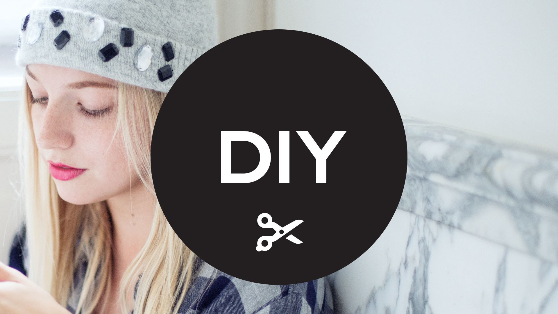 DIY: How to make your own bejeweled beanie