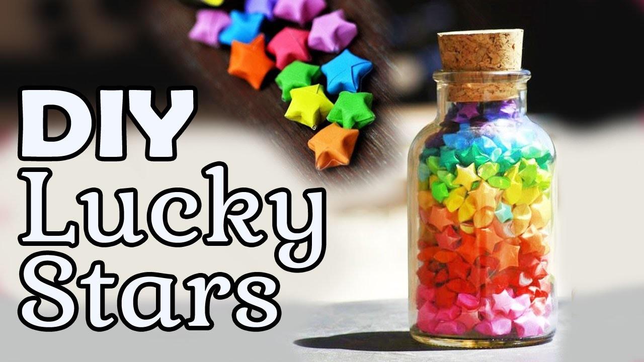 Diy lucky origami stars onzin of zinnig for Diy lucky stars