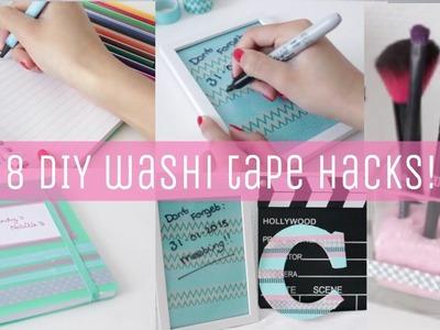 DIY washi tape HACKS for SCHOOL AND ROOM