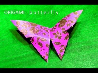 Eenvoudige vlinder vouwen ORIGAMI