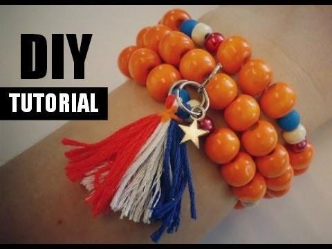 Oranje Armband Maken WK. Koningsdag