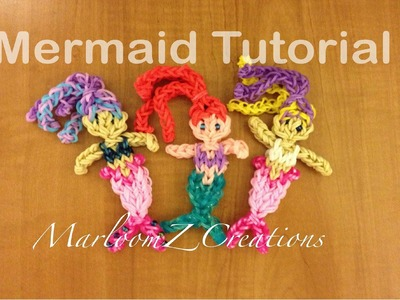 Rainbow Loom Ariel. Mermaid Doll Charm - Original Design Gomitas  sirène élastique