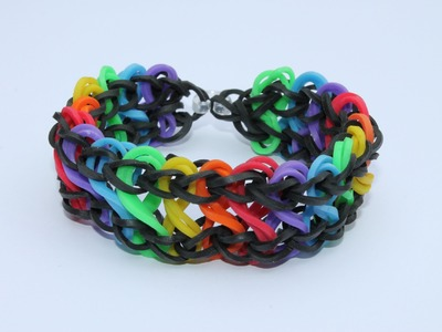 Rainbow Loom Nederlands, Double Infinity Rondom, 1 loom, Full
