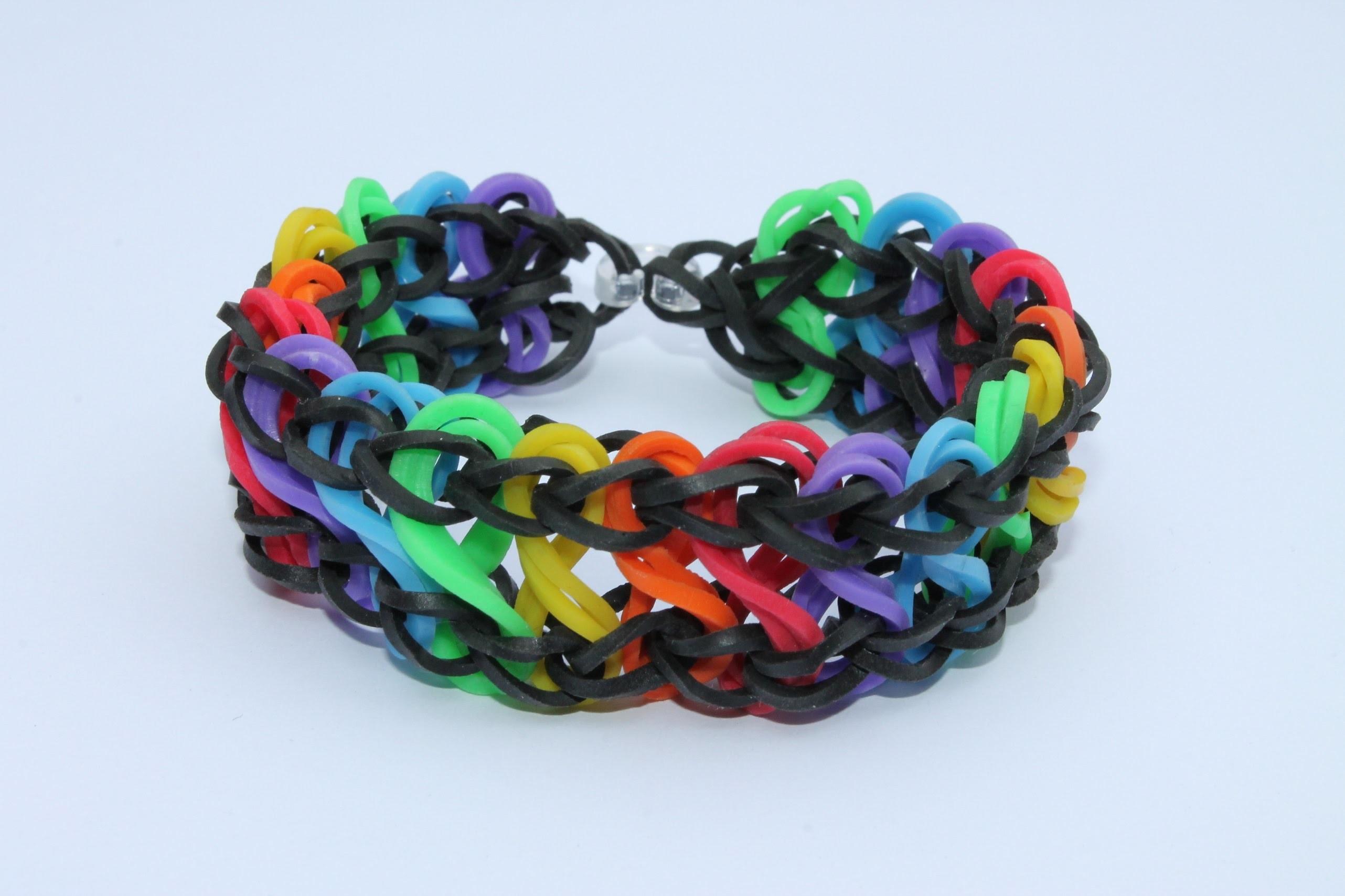 Rainbow Loom Nederlands, Double Infinity Rondom, 1 loom, Full