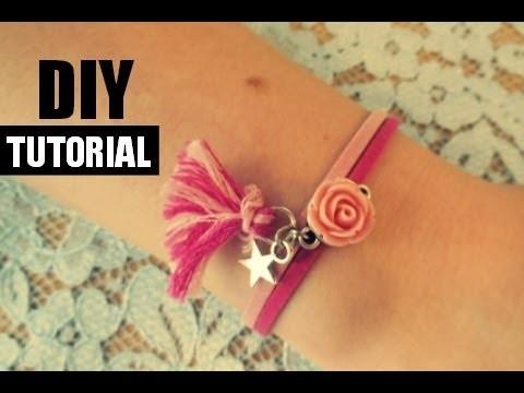 Suede Armband met Roos Tutorial