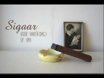 Tutorial: sigaar haken voor vaderdag | crochet a cigar for fathersday