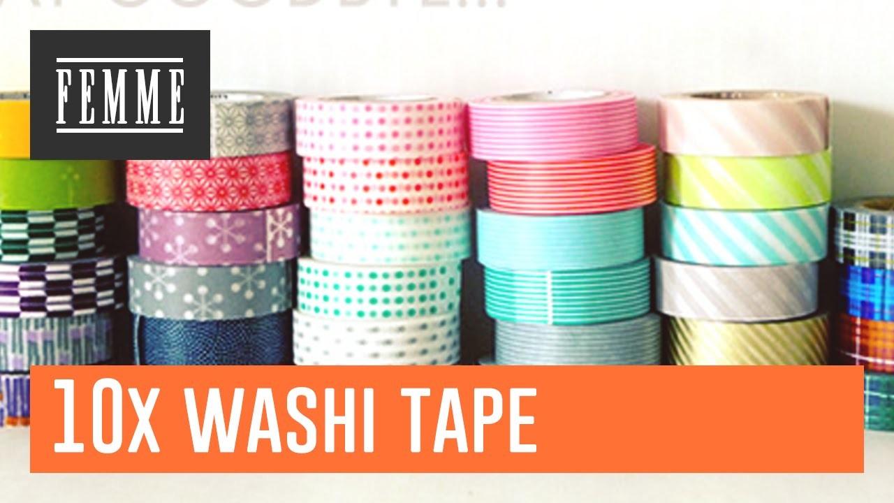 10 dingen die je met washitape kunt doen - FEMME
