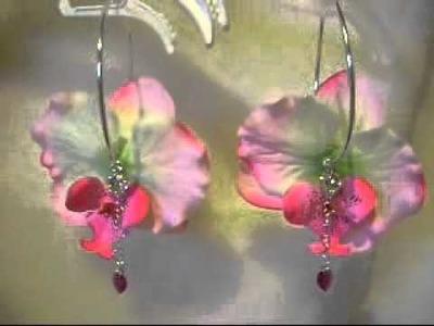 Bloem oorbellen swarovski elements