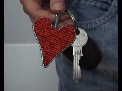 CraftRootz - Red Heart keyring