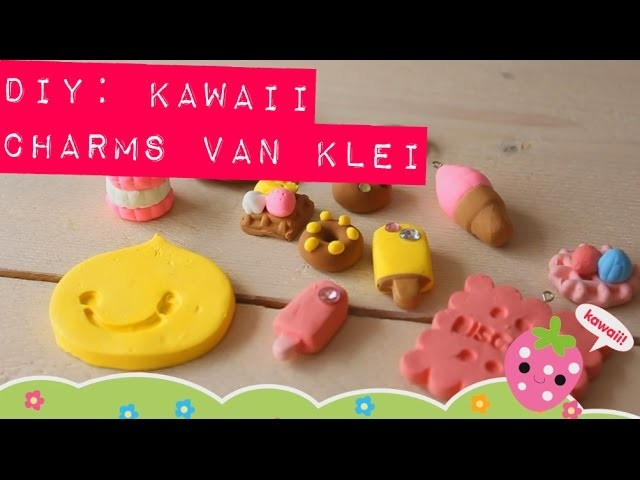 D.I.Y: Kawaii charms klei tutorial - MostCutest.nl airdry clay