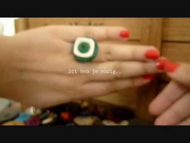 DIY - Een orginele ring met knopen. Easy!