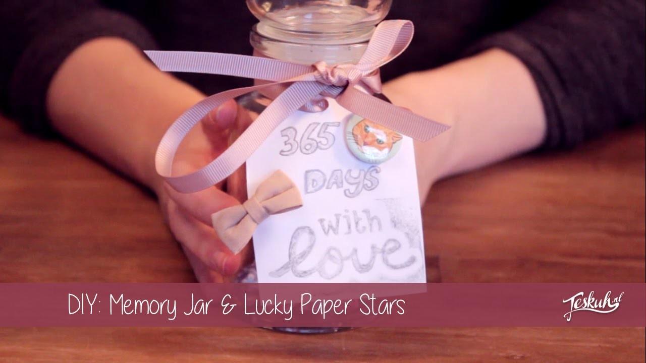 DIY Memory Jar + Lucky Paper Stars | Teske