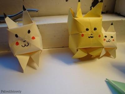 DIY Origami 'Pikachu'
