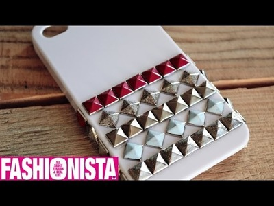Fashionista DIY - Studded iPhone hoesje