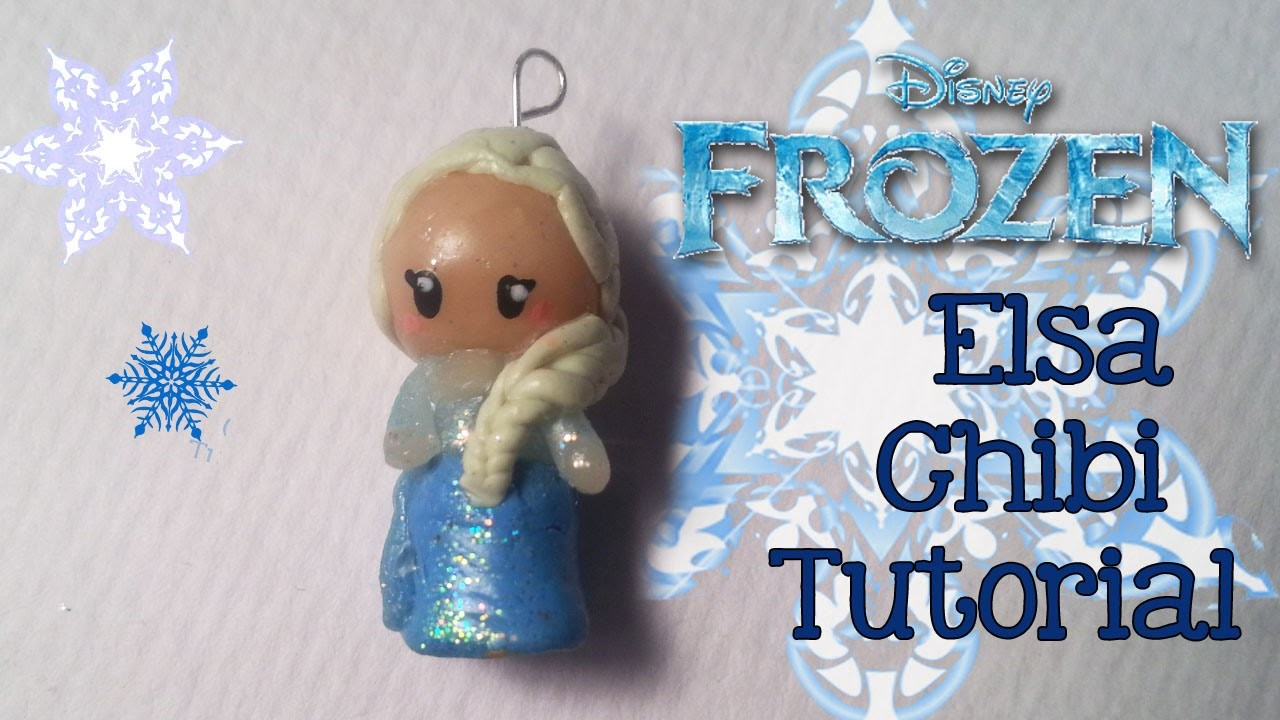 FIMO VRIJDAG Elsa Chibi Tutorial Frozen Princess Clay DIY #15