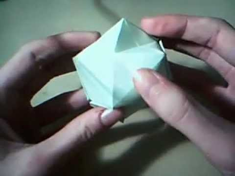 Hoe vouw je een origami bal. How to fold an origami ball