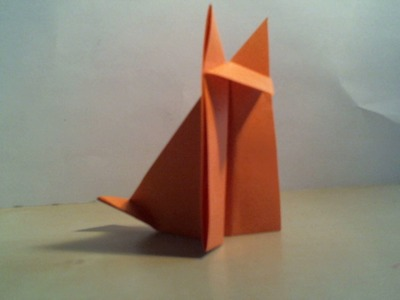 How to: Origami fox (easy). Hoe vouw je een origami vos (makkelijk)