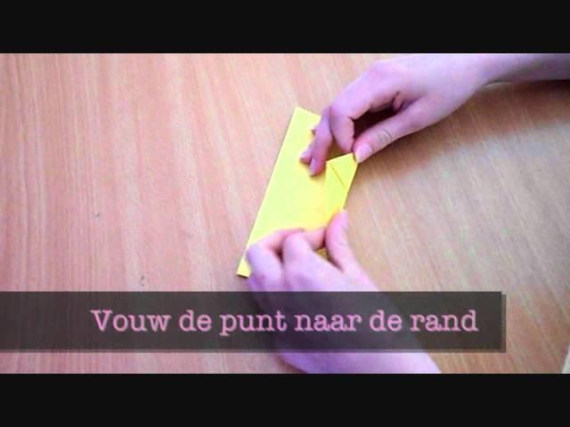 How to - Origami hartjes boekenlegger