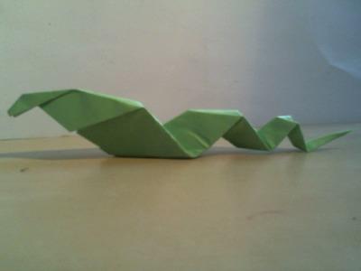 How to: Origami Snake (easy). Hoe vouw je een origami slang (makkelijk)