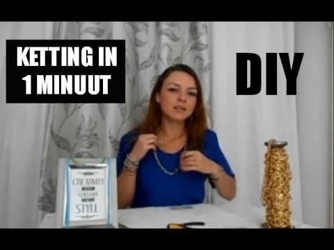 Ketting Maken in 1 minuut DIY Video Tutorial