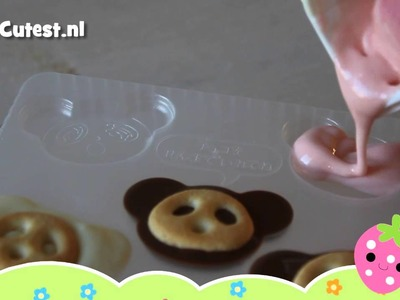 MostCutest.nl Japans snoep tutorial - how to - Kabaya Sakusaku panda chocolate set DIY