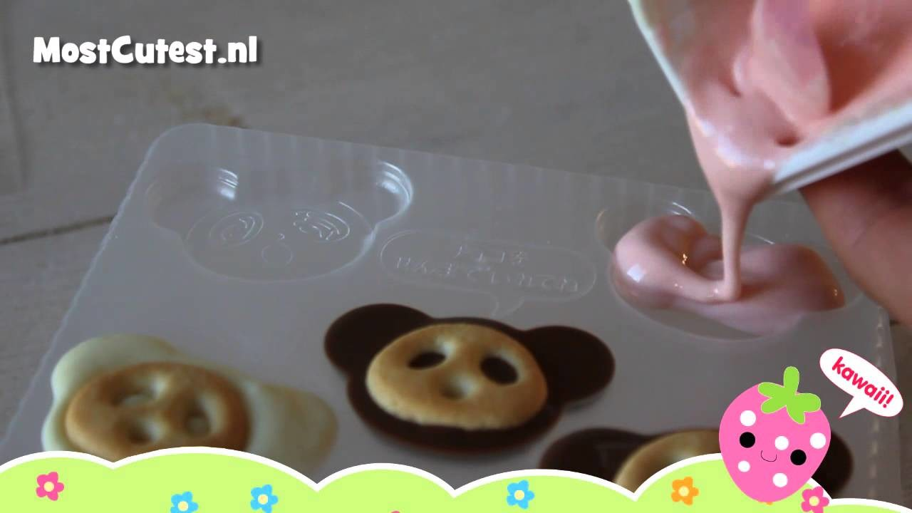 MostCutest.nl Japans snoep tutorial - how to - Kabaya Sakusaku panda chocolate set DIY