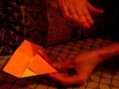 Origami-hart als boekenlegger