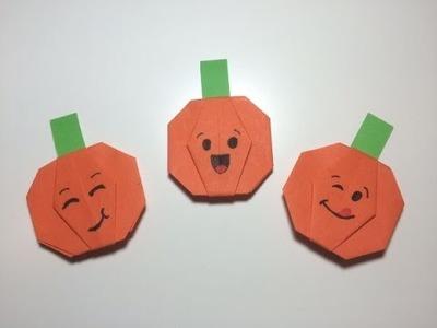 Origami met kinderen - pompoentjes vouwen van papier