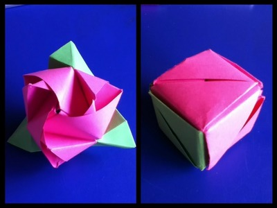 Origami roos-kubus (Anne)