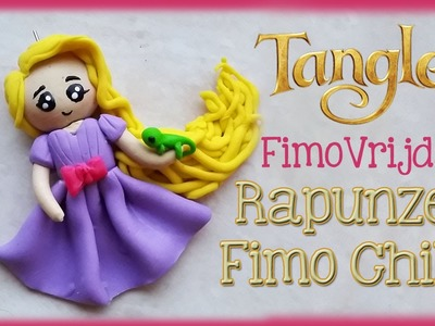 POLYMER CLAY CHIBI RAPUNZEL FROM TANGLED PRINSESS FIMO VRIJDAG