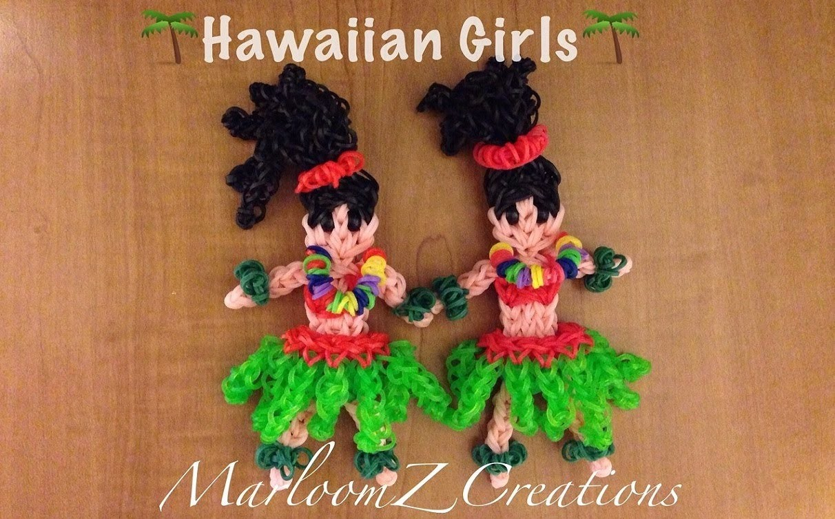 Rainbow Loom Hula Girl: How To: