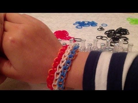 Rainbow loom, Nederlands, triple single, armband