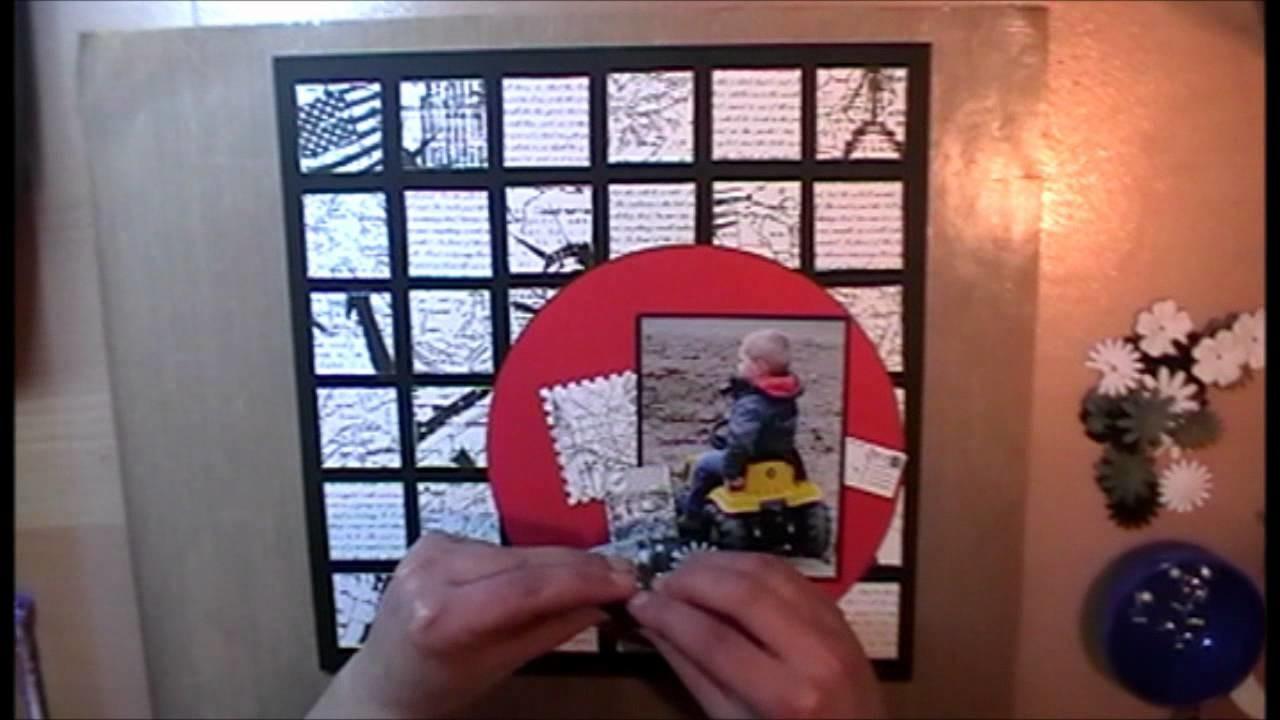 Scrapbook Layout met Docrafts Papermania