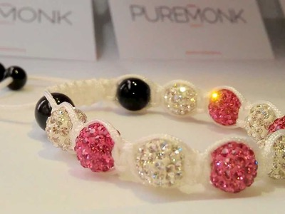 Shamballa Bracelet Rose.White Beads